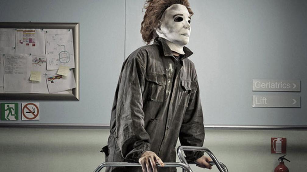 Michael Myers, en andador por los pasillos de un hospital (foto: Behance.net).