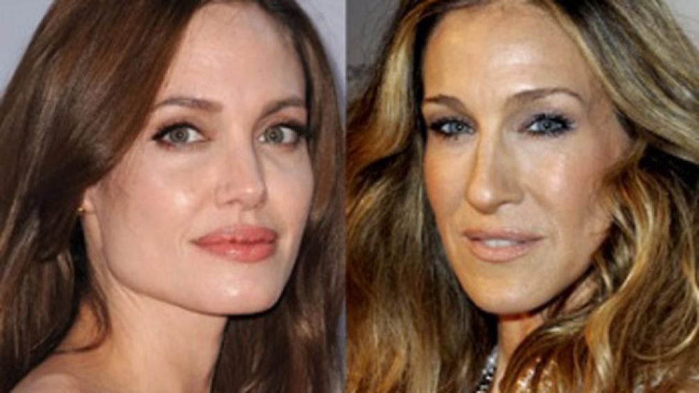 LAS NÚMERO UNO. Angelina Jolie y Sarah Jessica Parker.