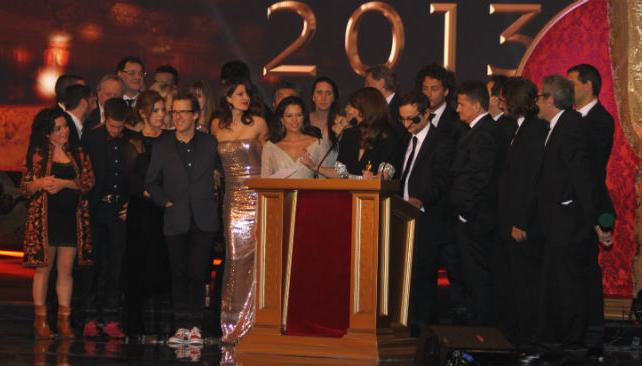 El elenco de 'Graduados' recibió el Martín Fierro de Oro en equipo.