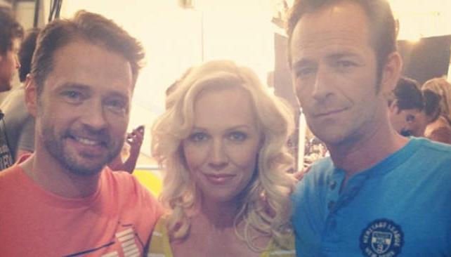 Los actores de 'Beverly Hills 90210', hoy (imagen web).