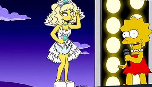 La imagen que se difundió de esta nueva aparición de Lady Gaga en 'Los Simpson'.