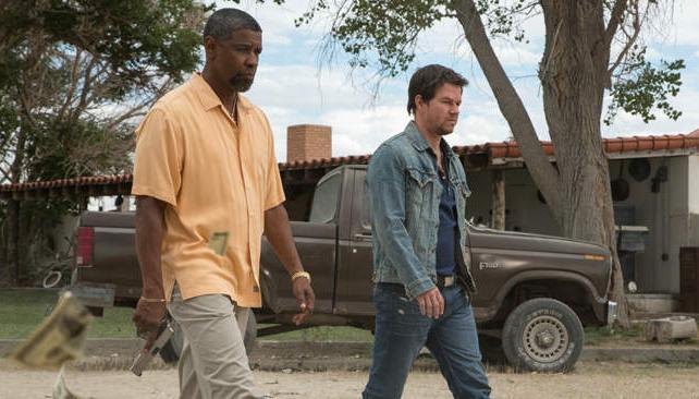Denzel Washington y Mark Wahlberg, sin otra posibilidad que mantenerse unidos para sobrevivir.