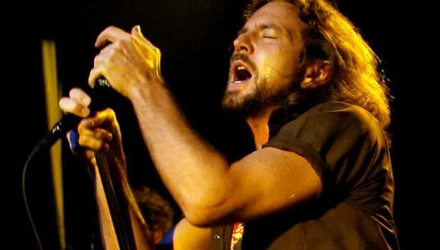 Eddie Vedder, cantante y líder de Pearl Jam.
