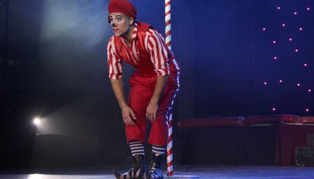 El espectáculo tiene como hilo conductor la figura del clown, que presenta los distintos números.