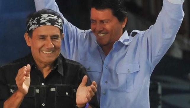 Cuti y Roberto Carabajal, viernes en la Sociedad Belgrano.