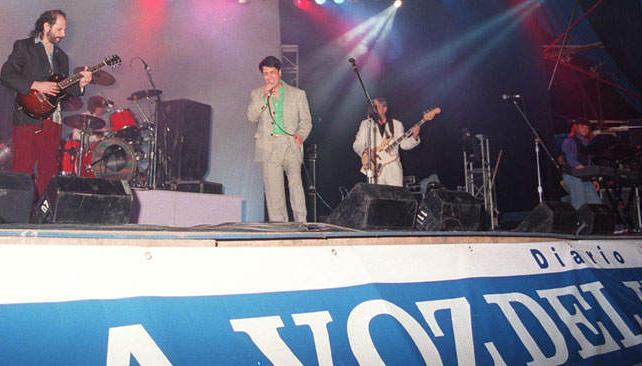 ADRIÁN OTERO. En un show en Carlos Paz auspiciado por La Voz del Interior.