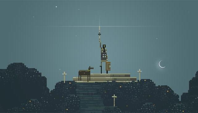 SUPERBROTHERS EP. Este es uno de los mejores y más extraños juegos que existen para el sistema.