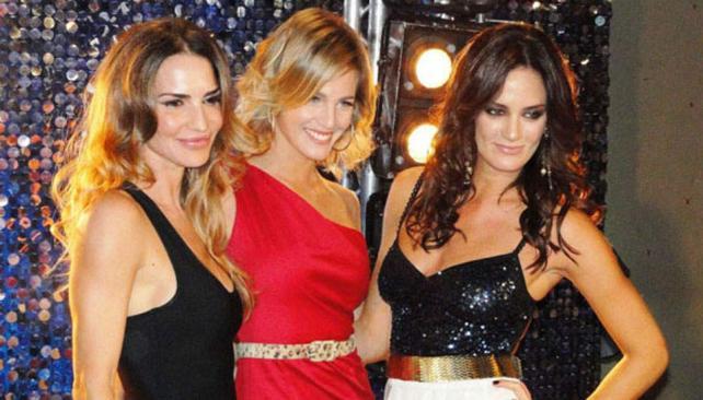 Bellezas a la pista: María Vázquez, Liz Solari y Paula Chaves. (Foto: Ideas del Sur)