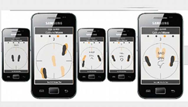 La aplicación para smartphones te muestra tus pasos de baile en tiempo real.